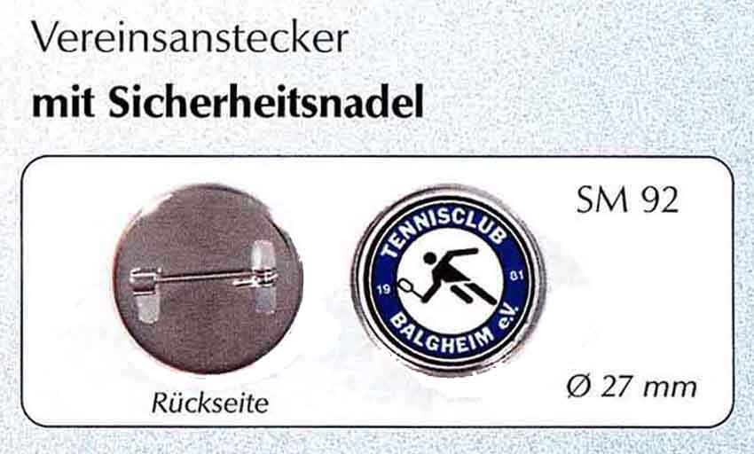 Vereinsanstecker SM 92